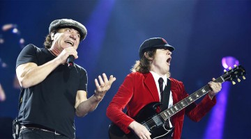 Angus Young e Brian Johnson. Holanda.