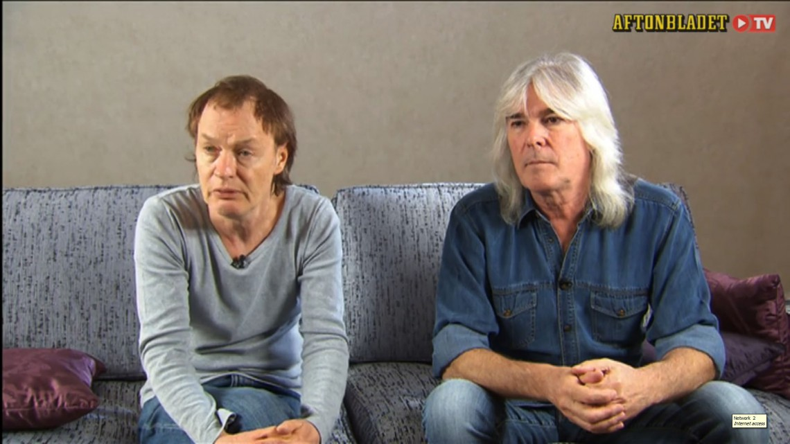 Angus Young e Cliff Williams. Suécia. 2014.