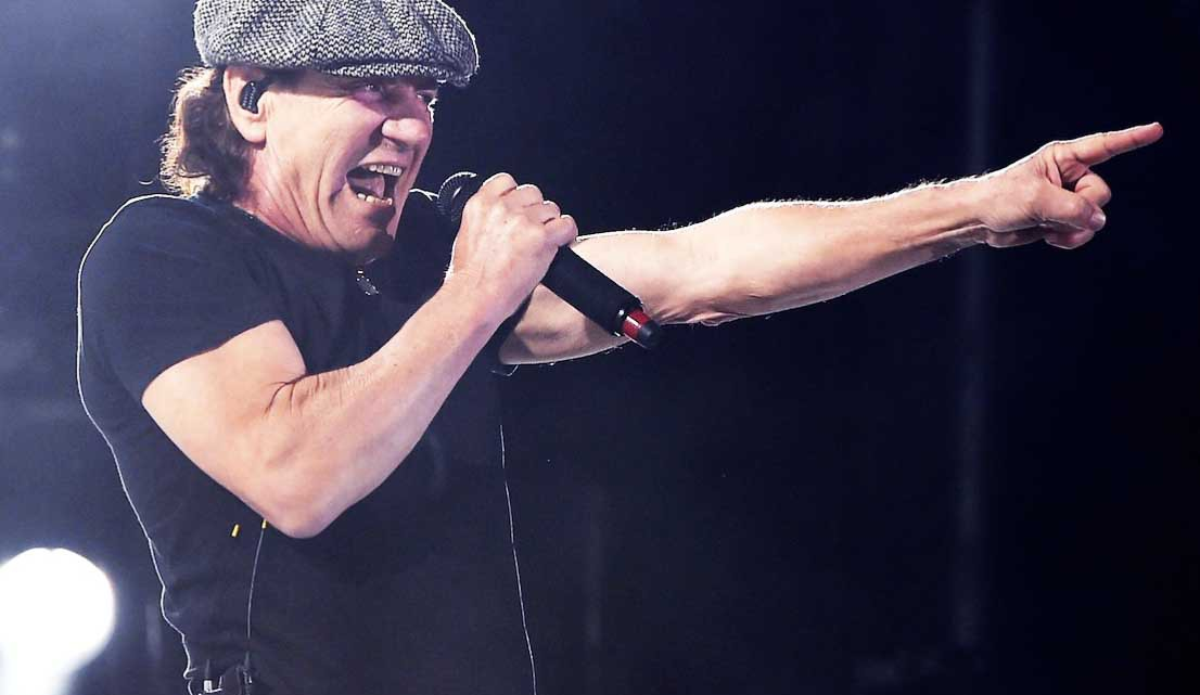Brian Johnson no festival Coachella. 2015