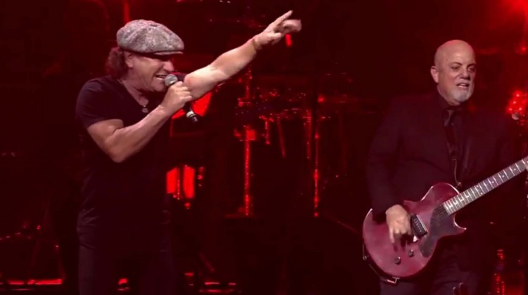 Brian Johnson e Billy Joel. 2014.