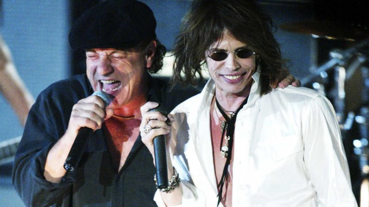 Brian Johnson. Steven Tyler. Hall da Fama do Rock